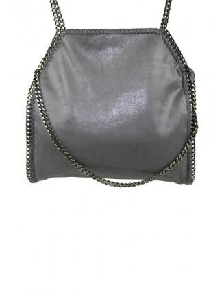 grå väska med kedja